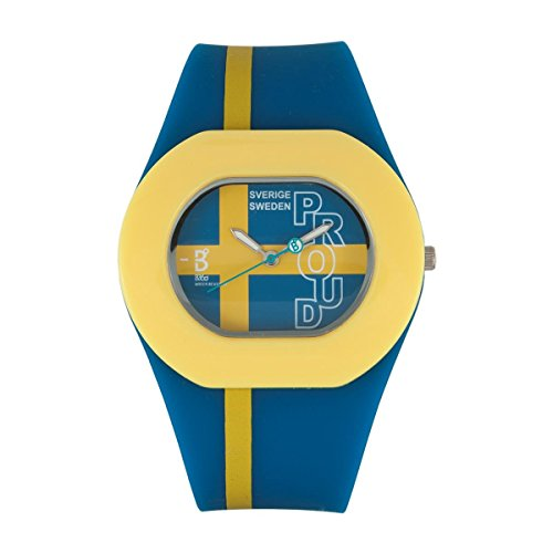 B360 WATCH Unisex Armbanduhr Medium 3 bars Analog Quarz Silikon B PROUD Swedish