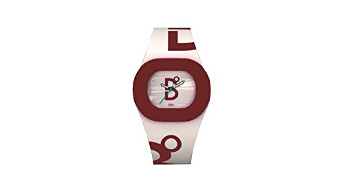 B360 WATCH Unisex Armbanduhr Medium 3 bars Analog Quarz Silikon BC WHITE MAROON
