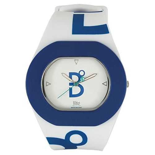 B360 WATCH Unisex Armbanduhr Small 3 bars Analog Quarz Silikon B COOL WHITE NAVY