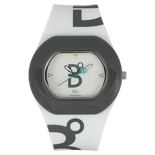 B360 WATCH Unisex Armbanduhr Small 3 bars Analog Quarz Silikon B COOL WHITE GREY