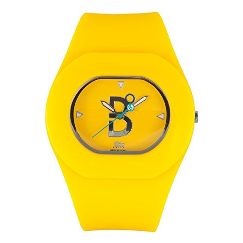 B360 WATCH Unisex Armbanduhr Small 3 bars Analog Quarz Silikon B COOL YELLOW