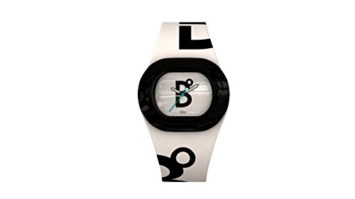 B360 WATCH Unisex Armbanduhr Small 3 bars Analog Quarz Silikon B COOL WHITE BLACK