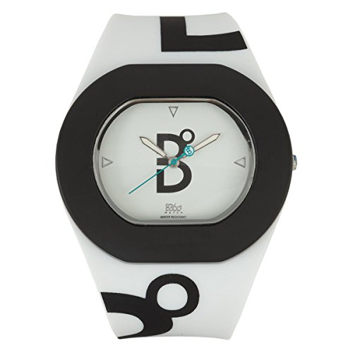 B360 WATCH Unisex Armbanduhr B COOL White and Black Large 3 bars Analog Quarz Silikon 1070055