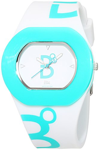 B360 WATCH Unisex Armbanduhr B COOL White Turquoise Small 3 bars Analog Quarz Silikon 1070099