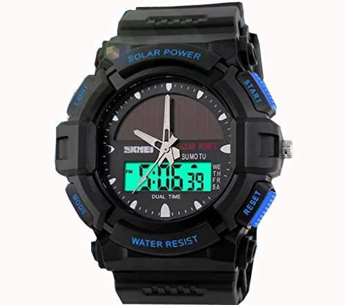 LED Armbanduhr Herrenuhr Sportuhr Herren Sport Uhren Analog Digital Geschink Schwarz