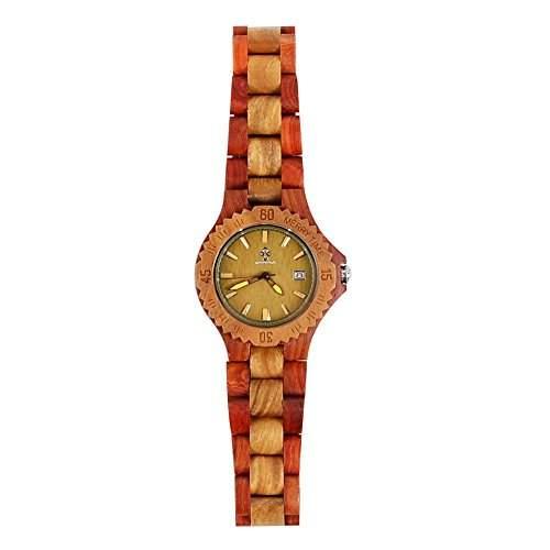 Holz-Armbanduhr Armbanduhr Damenuhr Herrenuhr Herrenarmbanduhr Damen Herren Holz Uhren Sandelholz Natur Gesund