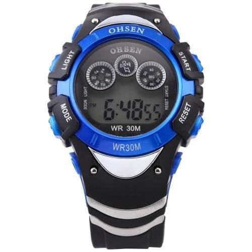 DragonPad Herren Sport Uhren Armbanduhren Herrenuhr Sportuhr Analog Digital Wrist Watch muti-funktion schwarz blau
