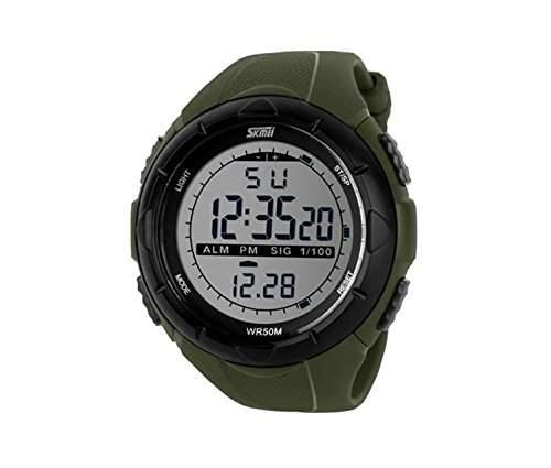LED Armbanduhr Herrenuhr Sportuhr Herren Sport Uhren Geschink Digital gr¨¹n watch Gummi