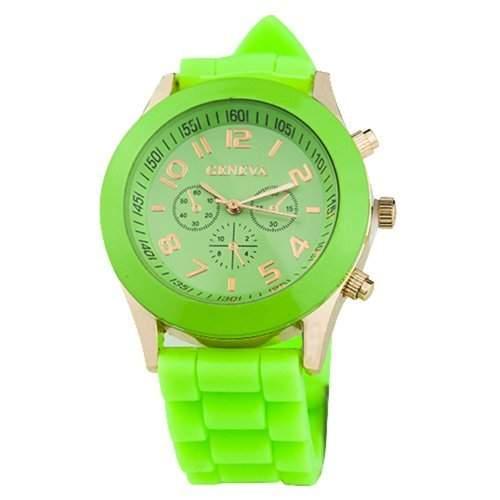 DragonPad Fashion Damen Sport Uhren Armbanduhr Damenuhr Sportuhr Geschink Analog gruen