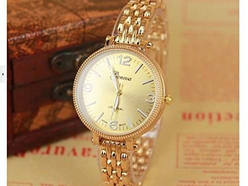 Armbanduhr Damenuhr Damen Uhr Analog Geschink Strass watch gift golden