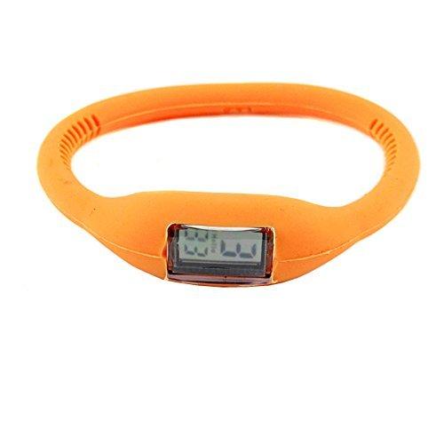 DragonPad Unisex Damen Herren Sport Uhren Armbanduhren Sportuhr Digital Silikon Wrist Watch orange