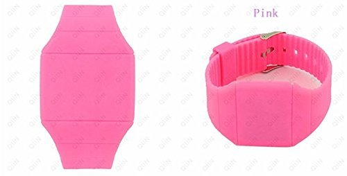 DragonPad Unisex Damen Herren Sport Uhren Armbanduhren Sportuhr Digital Silikon Wrist Watch Pink