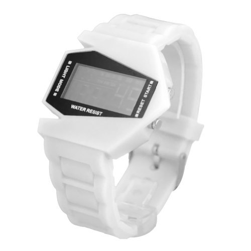 DragonPad Unisex Damen Herren Sport Uhren Armbanduhren Sportuhr Digital Silikon Wrist Watch weiss