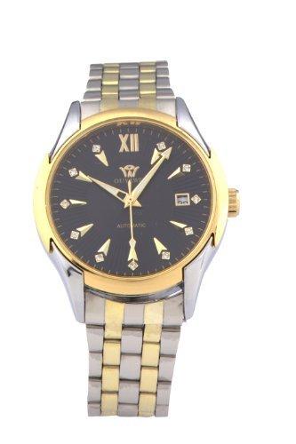 DragonPad Luxus Herren Sport Uhren Armbanduhren Sportuhr Analog Wrist Watch Edelstahl silber Golden Datum