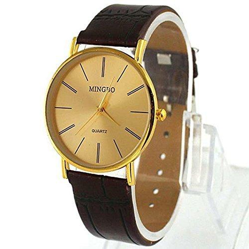DragonPad Fashion Herren Sport Uhren Armbanduhren Sportuhr Analog Wrist Watch Schwarz PU Leder