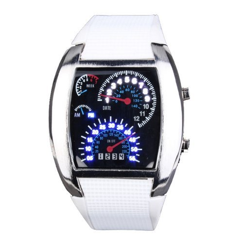 DragonPad Fashion Herren Sport Uhren Armbanduhren Sportuhr Digital weiss