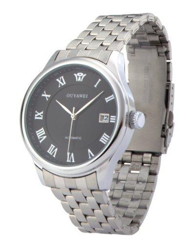 DragonPad Herren Sport Uhren Armbanduhren Sportuhr Analog Wrist Watch silber