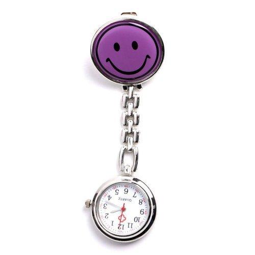 DragonPad Krankenschwesteruhr Schwesteruhr Pflegeruhr Ketteuhr Taschenuhr Damenuhr Herrenuhr Quarzuhr lachen lila