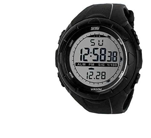LED Armbanduhr Herrenuhr Herren Sport Uhren Geschink Digital watch Gummi wasserdicht schwarz