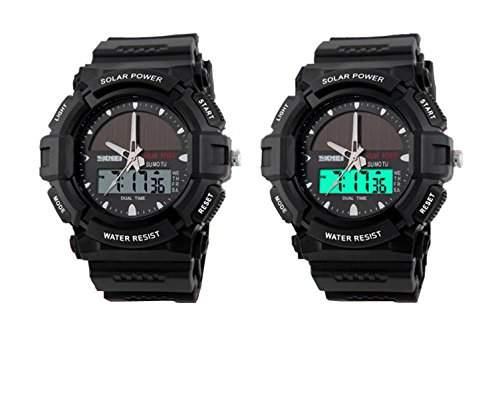 LED Unisex Armbanduhr Sportuhr Damenuhr Herrenuhr Damen Herren Sport Uhren Analog Digital Beleuchtung