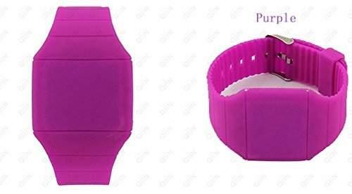 DragonPad Unisex Damen Herren Sport Uhren Armbanduhren Damenuhr Herrenuhr Sportuhr Digital Silikon Wrist Watch lila