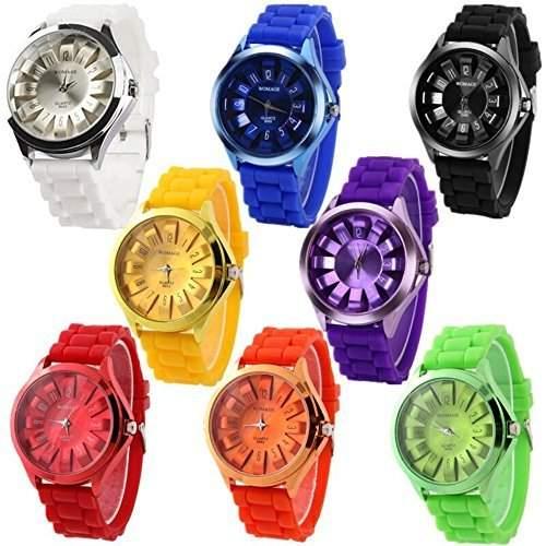 DragonPad 8 * Fashion Damen Sport Uhren Armbanduhr Damenuhr Geschink Analog bunt