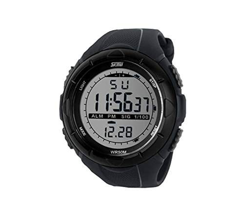 LED Armbanduhr Herrenuhr Sportuhr Herren Sport Uhren Geschink Digital Schwarz watch gift Gummi