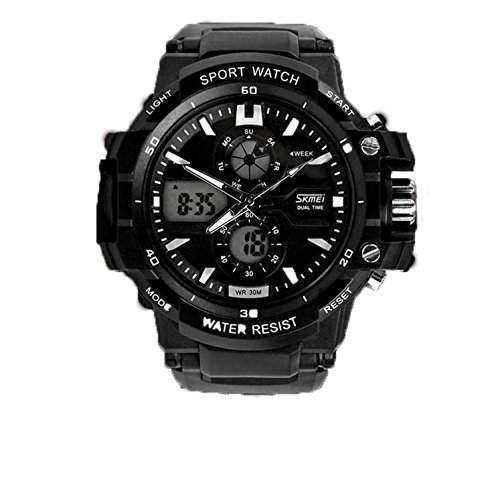 LED Armbanduhr Herrenuhr Herren Sport Uhren Digital Geschink gift watch Gummi schwarz