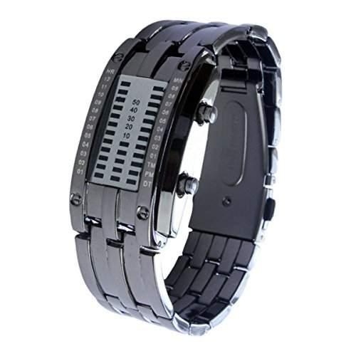 Schick LED Armbanduhr Damenuhr Damen Uhren Geschink Digital watch gift schwarz