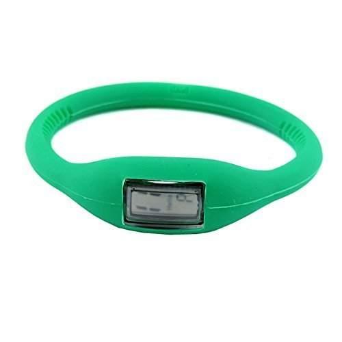DragonPad Unisex Damen Herren Sport Uhren Armbanduhren Damenuhr Herrenuhr Sportuhr Digital Silikon Wrist Watch gruen