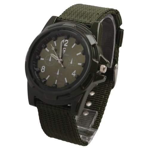 DragonPad Herren Sport Uhren Armbanduhren Herrenuhr Sportuhr Wrist Watch Nylon Army-gruen
