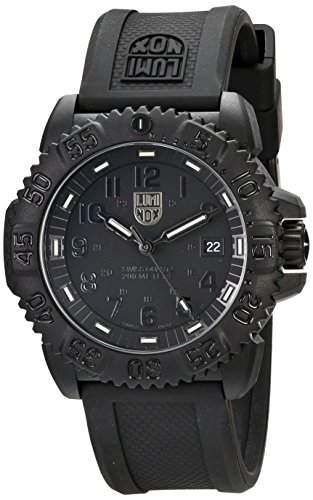 LUMINOX Herrenuhr Faserverstaerktes Carbon 3051BO Blackout