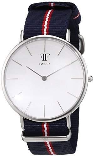 Faber Time Unisex-Armbanduhr Analog Quarz Nylon F804SL