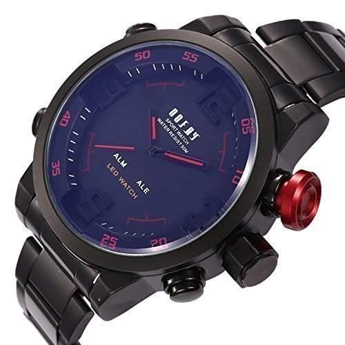 OOFAY beobachten ® neuen Maenner LED Digital Analog Sport Quarz-Armbanduhr