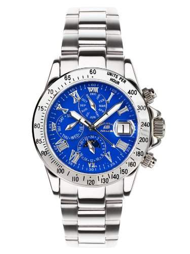 André Belfort Herren-Armbanduhr Le Capitaine Blau 410140