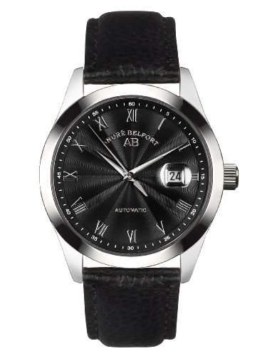 André Belfort Herren-Armbanduhr Empereur Stahl Schwarz 410155