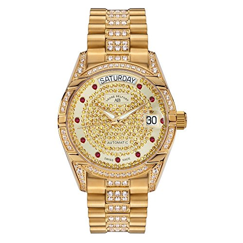 Andre Belfort Display Analog Armbanduhr Edelstahl und Zifferblatt Gold 4250245633174