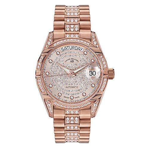 Andre Belfort Display Analog Armbanduhr Edelstahl und Zifferblatt Gold 4250245633181