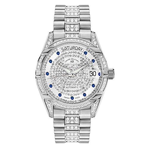 Andre Belfort Automatikuhr Display Analog Armband Edelstahl und Zifferblatt Silber 4250245633167