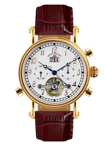 Andre Belfort Herren Armbanduhr Nouvelle Renaissance Rosegold Silber 410001