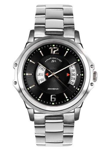 Andre Belfort Herren Armbanduhr Grande Classe Stahl Schwarz 410151