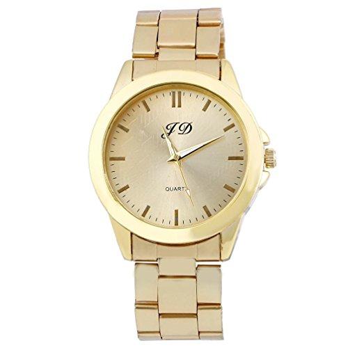 Ularmo Herren Luxus klassischer Analog Quarz Edelstahl Armbanduhr Gold