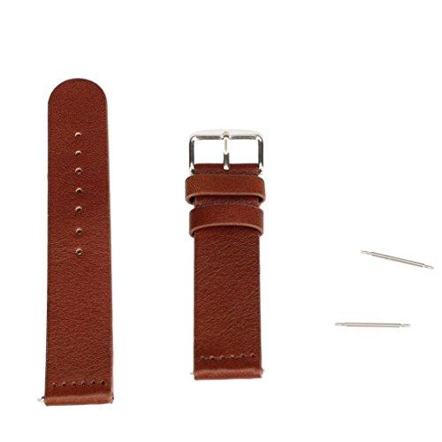 Ularmo fuer Samsung Galaxy Gear S2 Classic SM R732 20mm Echtes Leder Uhrenarmband Braun