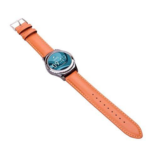 Ularmo fuer Samsung Galaxy Gear S2 Classic R732 Luxus Silikon Uhrenarmband Braun