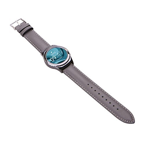 Ularmo fuer Samsung Galaxy Gear S2 Classic R732 Luxus Silikon Uhrenarmband Grau