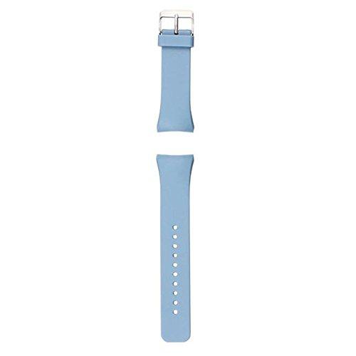 Ularmo fuer Samsung Galaxy Gear S2 SM R720 Luxus Silikon Uhrenarmband Blau