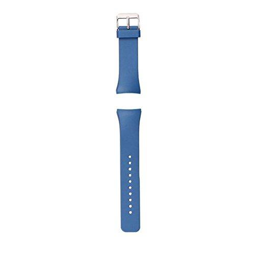 Ularmo fuer Samsung Galaxy Gear S2 SM R720 Luxus Silikon Uhrenarmband Dunkelblau