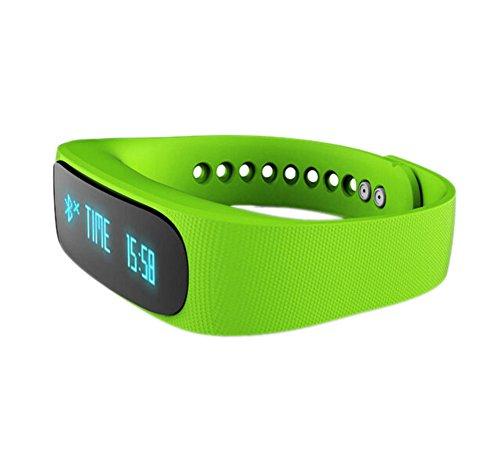 YARBAR Herren Damen E02 Bluetooth Smart LED Armbanduhr Multifunktionale Sport Pedometer Healthy Monitor Kompatible Android und IOS Systeme Gruen