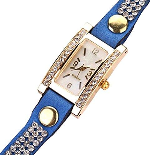 YARBAR Elegant Klassisch Uhr vintage Lederarmband Armbanduhr Quarzuhr Chronograph