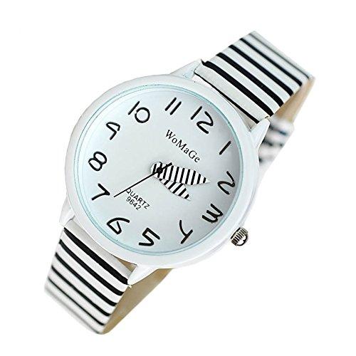 YARBAR Mode laessig Armbanduhr Quarzuhr Sport Zebrastreifen Analog Uhr Chronograph
